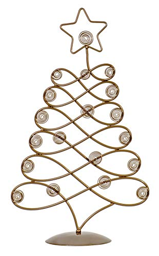 TRIPAR Tabletop Christmas Card Photo Holder Tree Display - Bronze