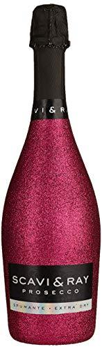 Scavi&RayProseccoFrizzante trocken Spumante Extra Dry Glitzer Look Pink (1 x 0.75 l)