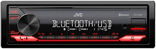 JVC KD-X270BT Digital Media Receiver Featuring Bluetooth, Front USB, JVC Remote App Compatibility