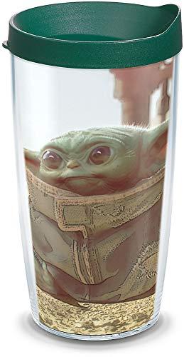 Tervis Star Wars – Copo térmico The Mandalorian Kid, 473 ml, transparente – Tritan
