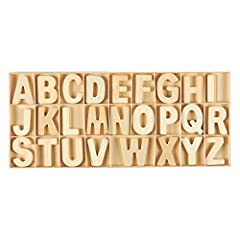 WOODEN LETTER SET: Contains a total of 104 pieces, with 4 pieces of each letter in the alphabet in a natural wooden color. The letters come with a wooden tray for easy access and storage. EDUCATIONAL: Helps kids learn letters, spelling and pronunciat...