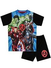 Marvel Avengers Pijamas de Manga Corta para niños Vengadores Azul 8-9 Años