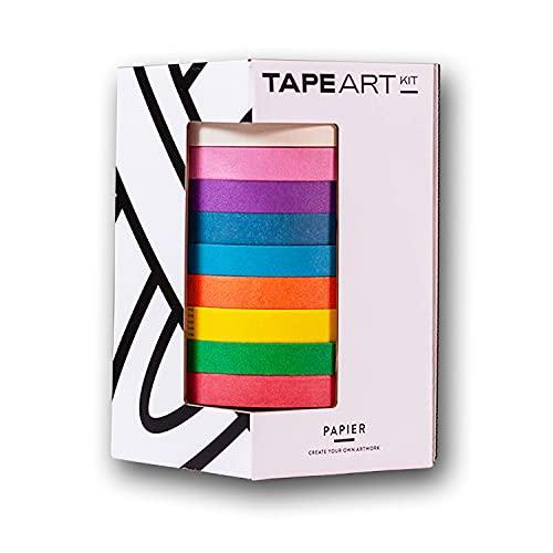 Tape Art Paper Kit Bunt   Tape Art Klebeband bekannt aus dem TV   Farbige Papier Klebestreifen für Klebeband Kunst   Kreppband für Wandbilder, Kunst, Handwerk und...