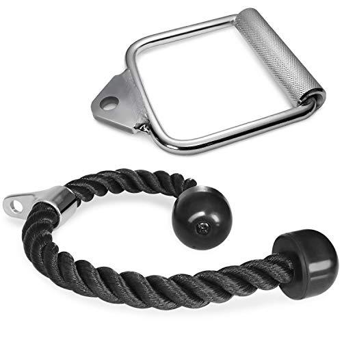 Zulux Accesorio Combinado LAT desplegable con Multi-Opción: V-Handle, la Cuerda de tríceps, Execrise manija, D-Handle, en Forma de V Bar, Rotación de Barra Recta ⭐