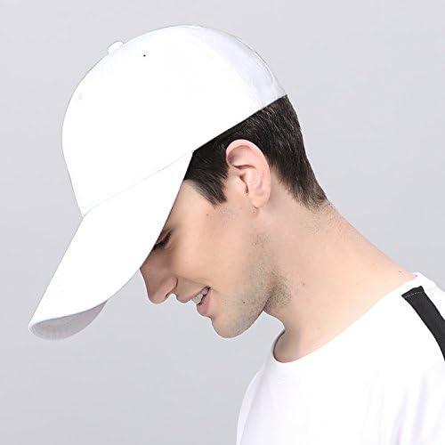 GUYOULY Long Hat Casquette de Baseball Hommes Chapeau été Tête Solaire Soleil Chapeau Long Chapeau Extérieur Pur Noir Chapeau Femelle