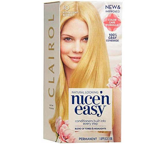 Price comparison product image Clairol Nice 'n Easy Permanent Color,  [10] Extra Light Blonde 1 ea