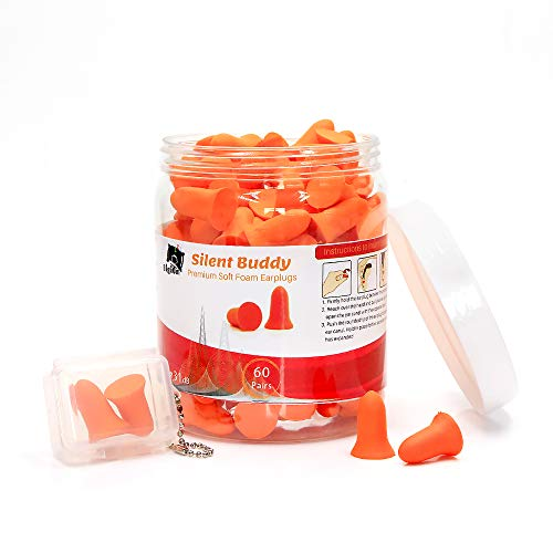 Ear Plugs for Sleeping DigiOm Silent Buddy Soft Foam Ear Plugs 60 Pairs, Hearing Protection for Concerts, Work, Shooting & Travel, NRR 31 Decibels, Best Noise Cancelling, with Handy Pocket Pack