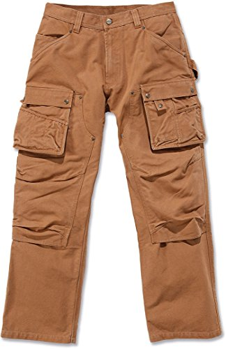 Carhartt. EB219. BRN. S425 Washed Duck Multi Pocket Tech Hose, Carhartt Braun, B36/L34