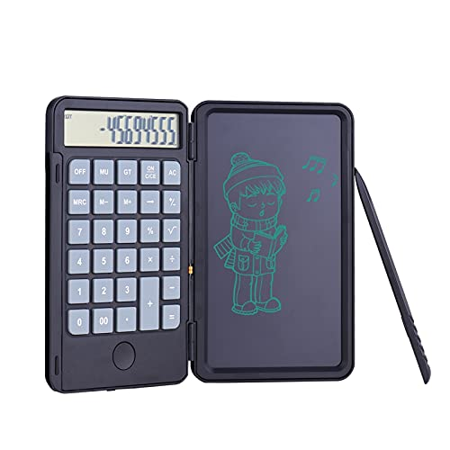 WBHUBIN Calcolatrice Calcolatrice Portatile & LCD. Scrittura del Tablet Digital Drawing Pad 12 cifre Display con la Funzione di Blocco del Pulsante di cancellazione della Penna dello Stilo