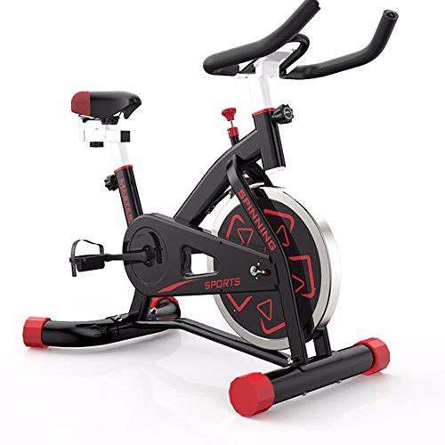 Bicicleta estática, Home Gym Equipment, Ciclos Salas de Estudio, Game Smart App, Sincronizar Datos de Movimiento, con 6 kg Volante, Confort, Máquinas de Ejercicios,Negro