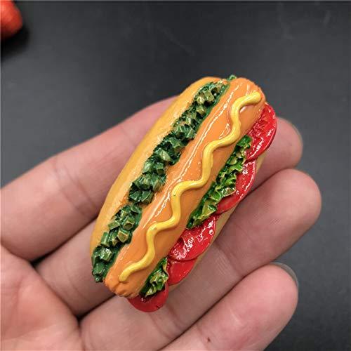 Imanes de Nevera Imanes De Frigorífico Beijing Asado Pizzo Pizza Hot Dog Pan Hombrilla Hamburguesa Refrigerador Refrigerador Imanes Creativo Comida Artesanía Stock Imanes para Refrigerador