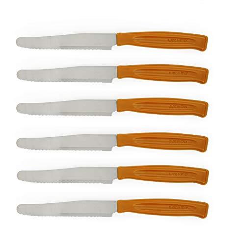 Excelsa Lot de 6 Couteaux Orange