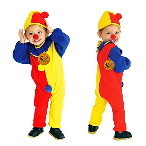"""Sage Square Kids """"Joker / Clown"""" Fancy Dress Costume for Funtion, Dress Up, Cosplay, Party, School Funtion, Theme Party, Competition, Stage Show, Party (4-6 Yrs)"""