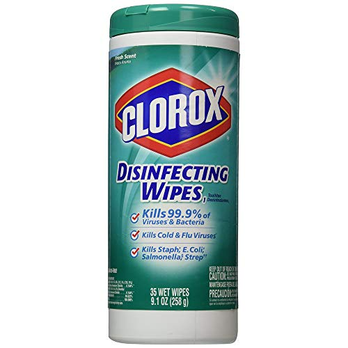 Disinfecting Wipes, 7 x 8, Fresh Scent, 35/Canister, 12/CartonDisinfecting Wipes, 7 x 8, Fresh Scent, 35/Canister, 12/Carton