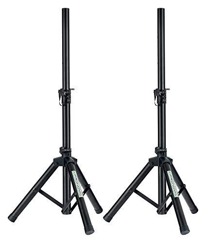 Pronomic SPS-5S Boxenstativ Stahl 2er Set - Niedrige Boxenstative aus Stahl - Ideal für Linienstrahler, Monitore und Akustik-Verstärker - 67 bis 120 cm hoch - nur 1,8 kg leicht - schwarz