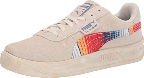 PUMA Mens California Vintage Lace Up Sneakers Casual Sneakers, Beige, 11