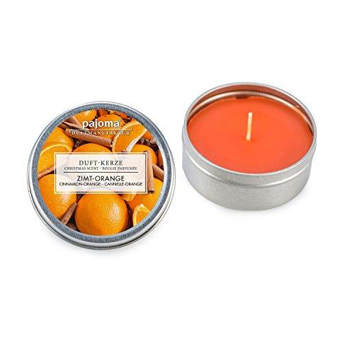 Pajoma Duftkerze ''Zimt-Orange''  in der Dose mit hohem Duftanteil, Premium Qualität extra für Weihnachten, Brenndauer: circa 7 Stunden