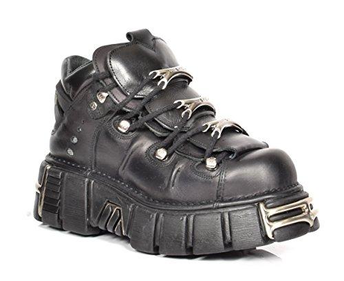 A1 FASHION GOODS A1106S1 Black, Bottes Motard mixte adulte - Noir - Noir , 42 1/3 EU