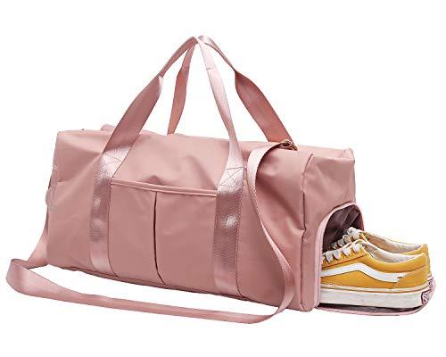 DOURR Gym Bag Waterproof Duffle bag with Shoes Compartment Swim Bag Dry Wet Depart Travel Weekender Bag for Women Men