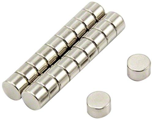 Magnet Expert 8 mm de diamètre x 4 mm d'épaisseur N35 Néodyme Aimant - 1.47 kg Pull (paquet de 10)
