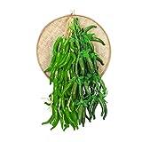 VOSAREA Verdure Artificiali Finto peperone Verde Stringa Cucina Ristorante Decorazione Orn...