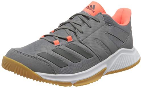 adidas Mens Essence Handball Shoe, Grey/Grey/Signal Coral, 42 2/3 EU