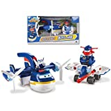 David toy Super Wings Super Wings Transforming A Bot 2 in 1 Police Patroller Playset Toy for Boys Kids
