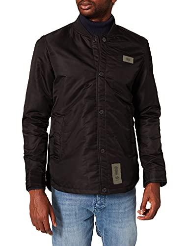 G-STAR RAW 10 Degrees Padded Overshirt Chaqueta, Black (dk Black C143-6484), L de los Hombres