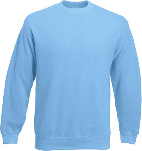 Fruit of the Loom - Set-In Sweatshirt - Sky Blue - Größe: M