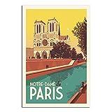 Vintage Frankreich Reise Poster Notre-Dame de Paris