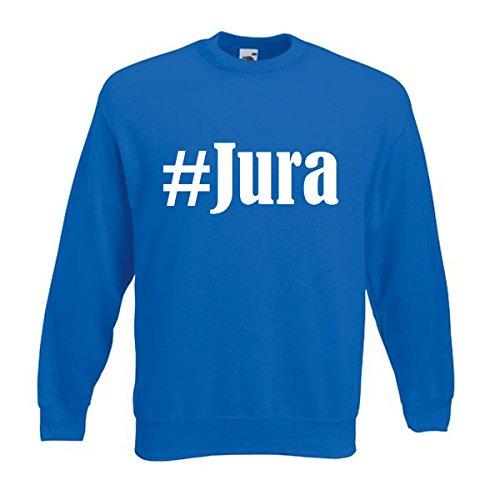 Reifen-Markt Sweatshirt Damen #Jura Größe L Farbe Blau Druck Weiss
