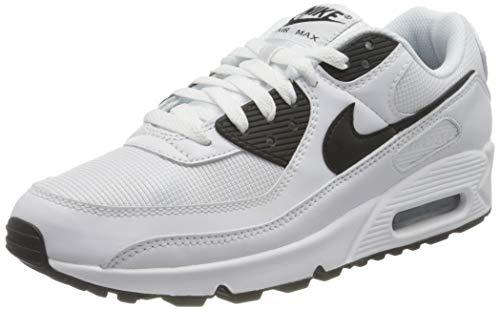 Nike Herren AIR MAX 90 Laufschuh, White Black White, 44 EU