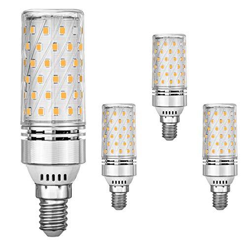 E14 GUIDATO Mais Bulbi 12W Equivalente a 100W alogena Bulbi, Bianco caldo 3000K, 1400LM, Piccolo Edison Vite GUIDATO Luce Lampadine, senza sfarfallio, non dimmerabili, CA 175-265 V, confezione da 4