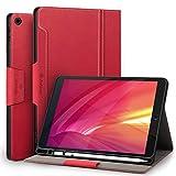 Antbox Hülle für iPad 10.2 (8. Generation/7. Generation) mit stifthalter Auto Schlaf/Wach Funktion PU Ledertasche Schutzhülle Smart Cover für iPad 10,2' 2020/2019(Rot)