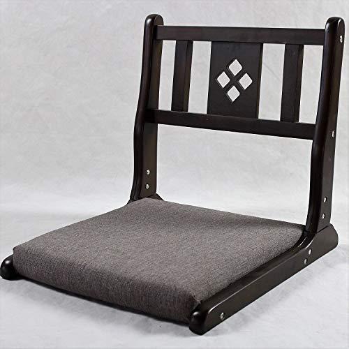 LiuliuBull X Japanische hölzerne beinlose Bodenstuhl Faltenbeine Raum Freizeit Lazy Stuhl Kissen Sitz