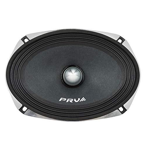 PRV AUDIO 6x9 Inxh Midrange Speaker 69MR500-PhP-4 500 Watts Program Power, 4 Ohm, 1.5 in Voice Coil, 250 Watts RMS Pro Car Audio Loudspeaker (Single)