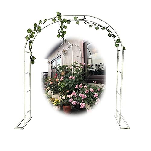 Gnova Rosenbogen,Garten Rankhilfe Kletterpflanzen,Breite 1.4m,1.8m,2m,2.4m,3m,3.5m,Gartenpergola,EisenTorbogen für Hochzeit Geburtstag Hochzeit Party Dekoration