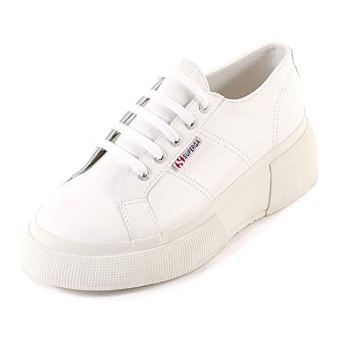 SUPERGA 2287-LEANAPPAW, Zapatillas Mujer, Bianco White 900, 40 EU