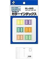 ニチバン カラーインデックス ML-135S 18mmX25mm 16片X6色入 (5パック) + 画材屋ドットコム ポストカードA