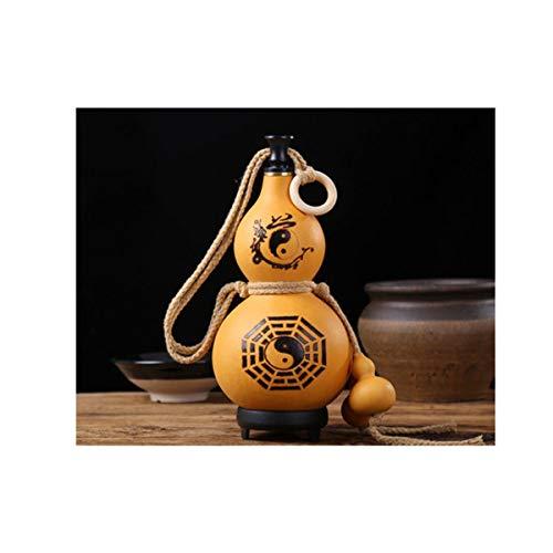CHENTAOCS Wein-Flaschenkürbis-Hüfte-Flasche mit Anhänger Impervious Beeswax Außen Hip Flask Dekoration Einfach zu bedienen (Color : C)