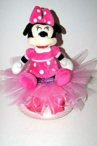 Tarta de bebé para regalo de nacimiento, bautismo, fiesta de bebé, Mickey Mouse Disney (BA – 20)