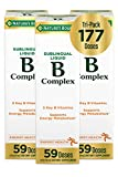 Vitamin B-Complex by Nature's Bounty, Dietary Supplement, Sublingual Liquid, Supports Energy Metabolism and Nervous System Health, 2 Fl Oz, 59 Doses (Pack of 3)