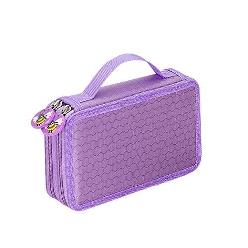 Durable Couleurs Portable Dessin Crayons Crayons Pen Case Holder Bag for 32pcs Crayons (Violet)