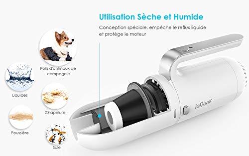 ieGeek Aspirateur de Voiture 8000Pa Puissant Portable, Aspirateur à Main sur l'Allume Cigare 12V...