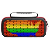 Carrying Case for Nintendo Switch,LGBT USA Map Rainbow Wall Switch Travel Case Compatible with Nintendo Switch Dock.Switch Carry Case with Handle for Nintendo Switch Console & Accessories