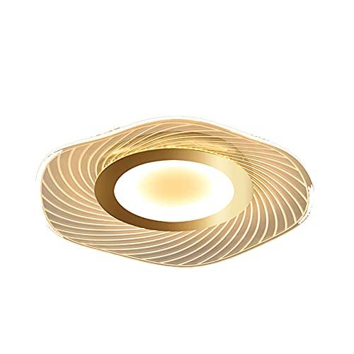 XLLQYY Lámpara de Techo de acrílico Simple, Sala de Estar, Estudio, Restaurante, lámpara de Techo de Hoja de Loto con Forma Especial para Dormitorio,Gold