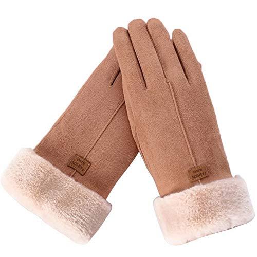 YNLRY Guantes de invierno impermeables de moda para mujer, guantes de invierno lindos y cálidos con dedos completos para mujer, deportes al aire libre, guantes para mujer, color 2