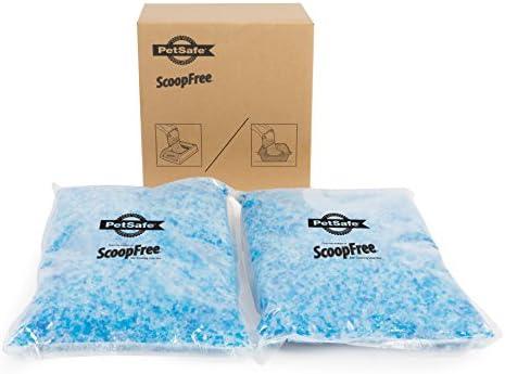 PetSafe ScoopFree Premium Crystal Non Clumping Cat Litter, 2-Pack - 4.5 Lb Per Pack, Original Blue - ZAC60-15711, Lavender - ZAC60-16116, Non-Scented - ZAC60-16108