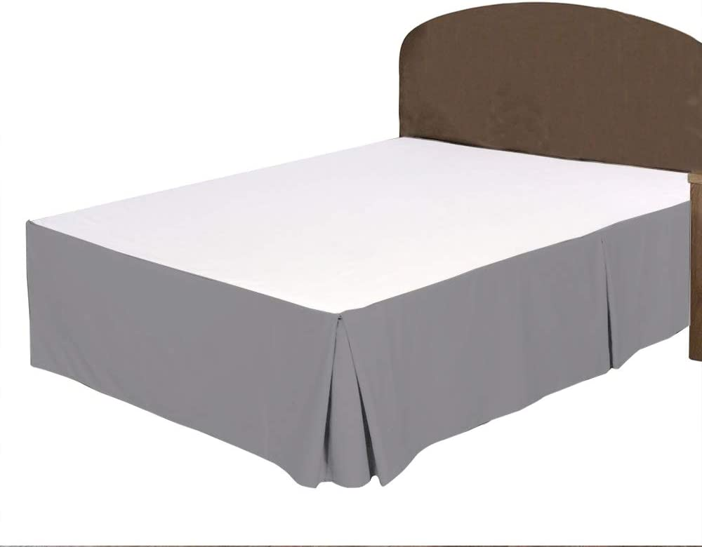 Discount mail order BRIGHTLINEN 1PCs Box Pleated Bed Skirt Dr Silver King Grey XL Columbus Mall