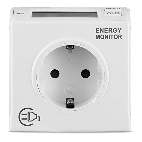 REV 0025810112 Stromzähler, Steckdose, Stromverbrauch messen Energie, weiss